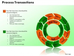 PowerPoint Template Process Transaction Sales Ppt Presentation Designs