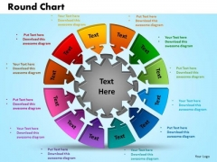 PowerPoint Template Round Chart Sales Ppt Templates