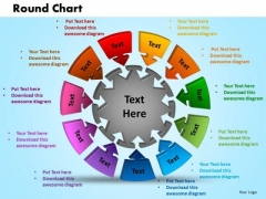 PowerPoint Template Round Chart Success Ppt Slides
