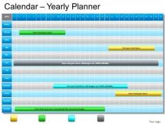 PowerPoint Template Sales Blue Calendar 2012 Ppt Slide