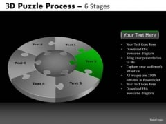 PowerPoint Template Sales Pie Chart Puzzle Process Ppt Layout