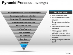 PowerPoint Template Sales Pyramid Process Ppt Slide