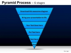 PowerPoint Template Sales Pyramid Process Ppt Themes