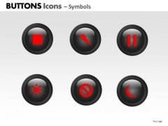 PowerPoint Template Strategy Buttons Icons Ppt Layouts