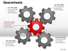 PowerPoint Template Strategy Gear Wheel Ppt Slide