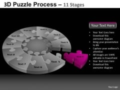 PowerPoint Template Strategy Pie Chart Puzzle Process Ppt Design