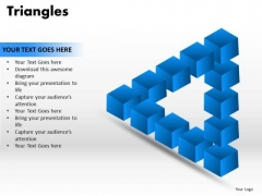 PowerPoint Template Strategy Triangles Ppt Templates