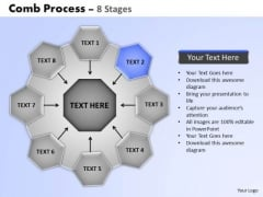 PowerPoint Template Strategy Wheel And Spoke Process Ppt Themes