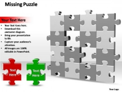 PowerPoint Template Success 2 Missing Puzzle Pieces Ppt Theme