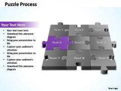 PowerPoint Template Success 3d Puzzle Process Ppt Slide
