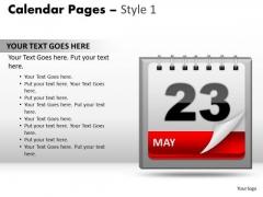 PowerPoint Template Success Calendar 23 May Ppt Templates