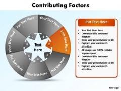 PowerPoint Template Success Contributing Factors Ppt Slides