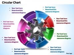 PowerPoint Template Success Interconnected Circular Chart Ppt Slide