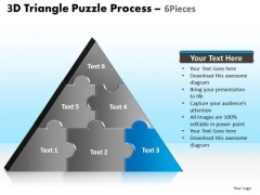 PowerPoint Template Success Triangle Puzzle Ppt Design