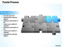 PowerPoint Template Teamwork 3d Puzzle Process Ppt Slides