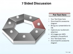 PowerPoint Template Teamwork Sided Discussion Ppt Backgrounds