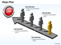 PowerPoint Template Teamwork Steps Plan 4 Stages Style 5 Ppt Design