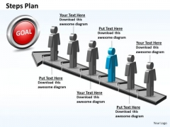 PowerPoint Template Teamwork Steps Plan 6 Stages Style 5 Ppt Design
