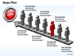 PowerPoint Template Teamwork Steps Plan 7 Stages Style 5 Ppt Theme