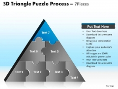PowerPoint Template Teamwork Triangle Puzzle Ppt Designs