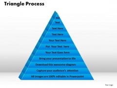 PowerPoint Template Triangle Process Growth Ppt Design
