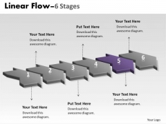 PowerPoint Template Work Flow Continual Six Phase Time Management Graphic