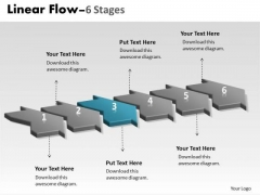 PowerPoint Template Work Flow Ppt 2010 Loop Six Phase 4 Graphic