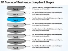 PowerPoint Templates Action Plan 8 Stages Free Examples Of Business Plans Slides