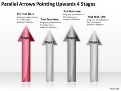 PowerPoint Templates Arrows Parallel Pointing Upwards 4 Stages Ppt