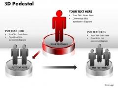 PowerPoint Templates Business 3d Pedestal Ppt Presentation