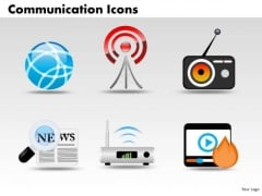 PowerPoint Templates Business Communication Icons Ppt Themes