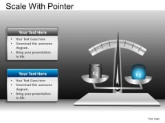 PowerPoint Templates Business Competition Scale With Pointer Ppt Template