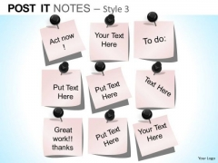 PowerPoint Templates Business Education Post It Notes Ppt Slides