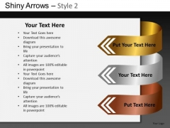 PowerPoint Templates Business Growth Shiny Arrows 2 Ppt Designs