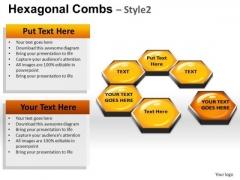 PowerPoint Templates Business Hexagonal Combs Ppt Presentation