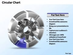 PowerPoint Templates Business Interconnected Circular Chart Ppt Slide