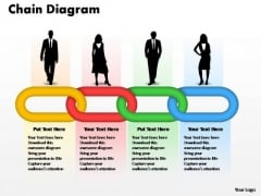 PowerPoint Templates Business Interrelated Concepts Chain Diagram Ppt Process
