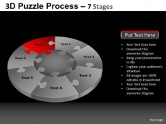 PowerPoint Templates Business Pie Chart Puzzle Process Ppt Design
