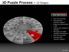 PowerPoint Templates Business Pie Chart Puzzle Process Ppt Theme