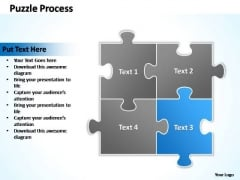 PowerPoint Templates Business Puzzle Process 2 X 2 Ppt Design
