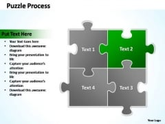 PowerPoint Templates Business Puzzle Process 2 X 2 Ppt Designs