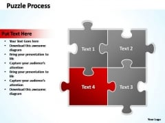 PowerPoint Templates Business Puzzle Process 2 X 2 Ppt Presentation