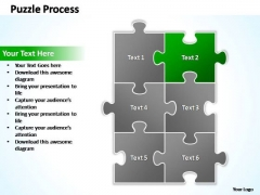 PowerPoint Templates Business Puzzle Process 2 X 3 Ppt Designs