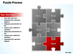PowerPoint Templates Business Puzzle Process 2 X 3 Ppt Layouts