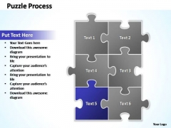 PowerPoint Templates Business Puzzle Process 2 X 3 Ppt Slide