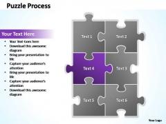 PowerPoint Templates Business Puzzle Process 2 X 3 Ppt Slides