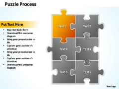 PowerPoint Templates Business Puzzle Process 2 X 3 Ppt Theme