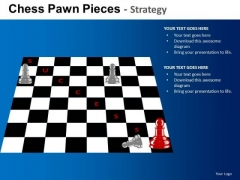 PowerPoint Templates Business Stragety Chess Pawn Ppt Designs