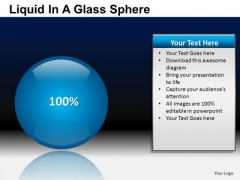 PowerPoint Templates Business Strategy Liquid In A Balls Sphere Ppt Themes