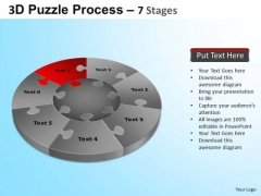 PowerPoint Templates Business Success Puzzle Segment Pie Chart Ppt Themes